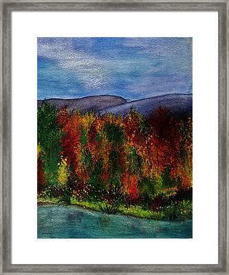 Autumn Lagoon 2 Of 2 Set Framed Print
