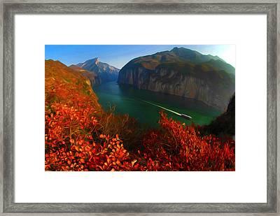 Autumn Lake 1 Framed Print