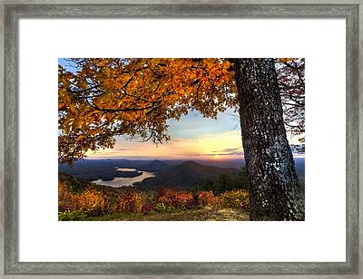 Autumn Lake Framed Print by Debra and Dave Vanderlaan