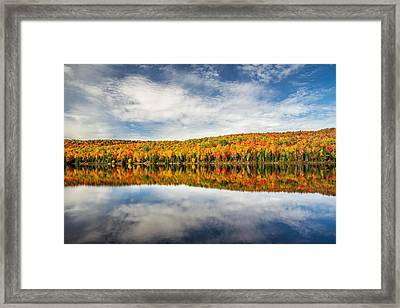 Autumn Lake Reflection Framed Print by Pierre Leclerc Photography