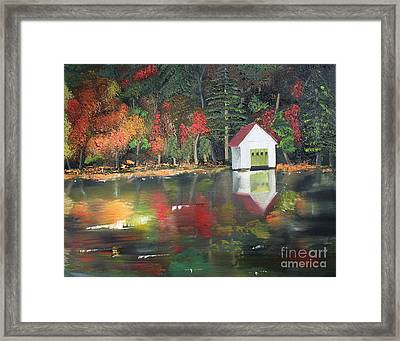 Autumn - Lake - Reflecton Framed Print