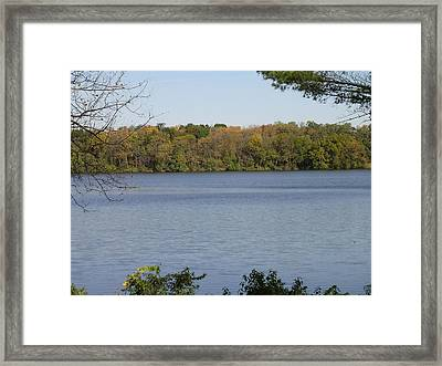 Autumn Lakeside Framed Print by Dusty Reed
