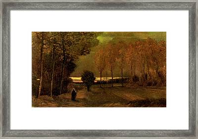Autumn Landscape At Dusk 1885 Framed Print by Vincent Van Gogh