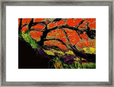 Framed Print featuring the digital art Autumn Landscape   by Jim Vance