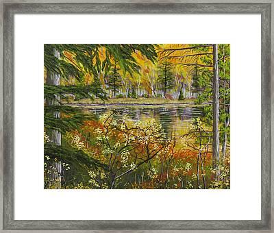 Autumn Landscape In Kennebec Highlands Of Maine Framed Print by Keith Webber Jr