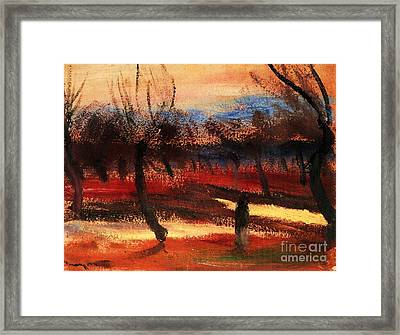 Autumn Landscape Framed Print by Pg Reproductions