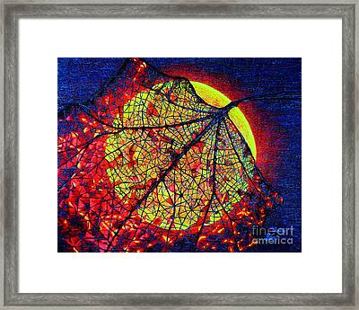 Autumn Leaf Moon Framed Print by Viktor Lazarev