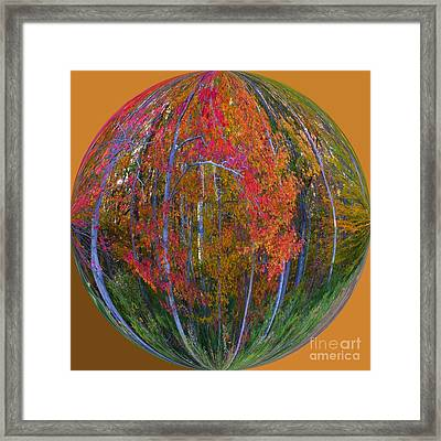 Autumn Leaves Art Deco Framed Print by Scott Cameron