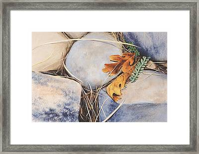 Autumn Leaves Framed Print by Carlynne Hershberger