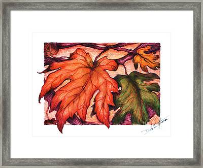 Autumn Leaves Framed Print by Derrick Rathgeber