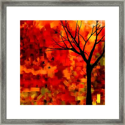 Autumn Leaves Framed Print by Lourry Legarde