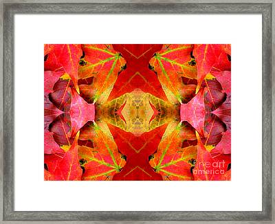 Autumn Leaves Mirrored Framed Print by Rose Santuci-Sofranko