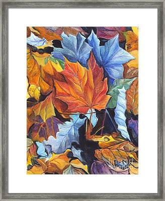 Autumn Leaves Of Red And Gold Framed Print by Carol Wisniewski