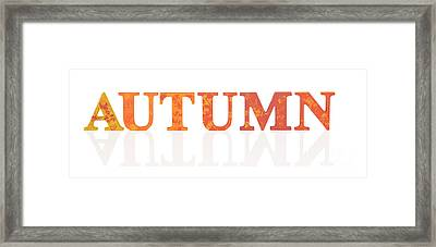 Autumn Letters Framed Print by Amanda Elwell