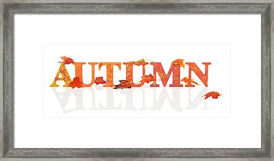 Autumn Letters With Leaves Framed Print by Amanda Elwell