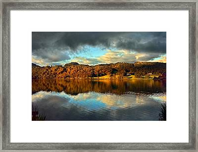 Autumn Light On Lake Grasmere Framed Print by Adrian Campfield