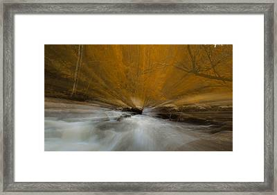 Autumn Light On Little River Framed Print