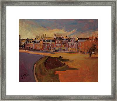 Autumn Light Over The Queen Emma Square Maastricht Framed Print