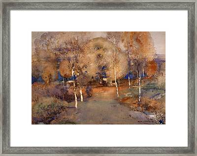 Autumn  Loch Lomond, 1893 Framed Print by Arthur Melville