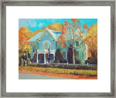 Autumn Magic Claiborne House Framed Print