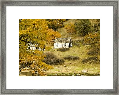 Autumn Marks Transitions Framed Print by MaryJane Armstrong