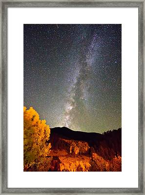 Autumn Milky Way Night Sky  Framed Print by James BO  Insogna