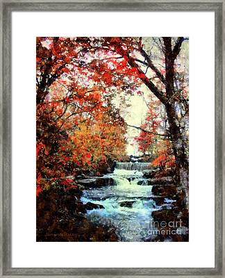 Autumn Mill Falls Framed Print by Janine Riley