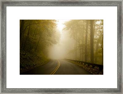 Autumn Mist Blue Ridge Parkway Framed Print by Terry DeLuco