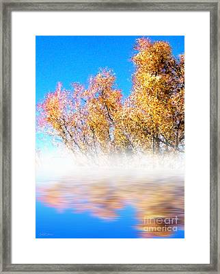 Framed Print featuring the photograph Autumn Mist by Cristophers Dream Artistry