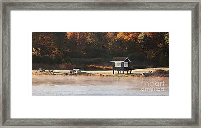 Autumn Mist Framed Print by K Hines