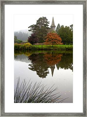 Autumn Mistyness Framed Print by Shirley Mitchell