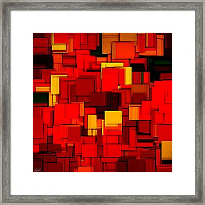 Autumn Modern Abstract Xv Framed Print by Lourry Legarde