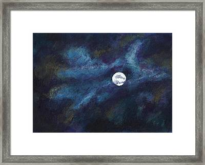 Autumn Moonscape Framed Print