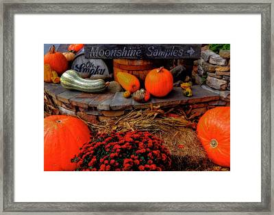 Autumn Moonshine At Old Smoky Distillery Framed Print by Dan Sproul