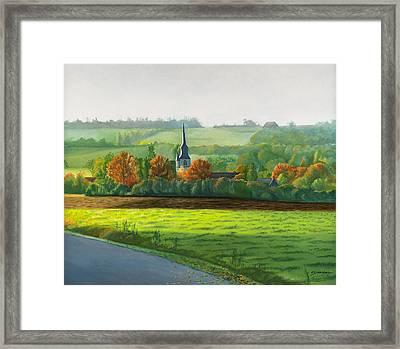 Autumn Morning At St Ulphace Framed Print by Christian Simonian
