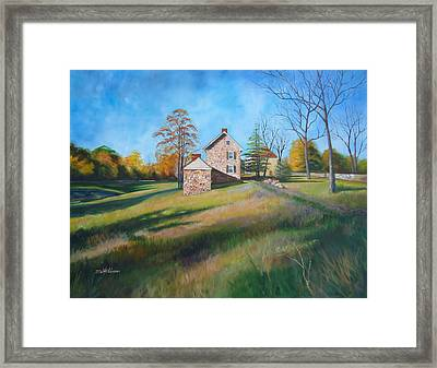 Autumn Morning Framed Print by Diane Hutchinson