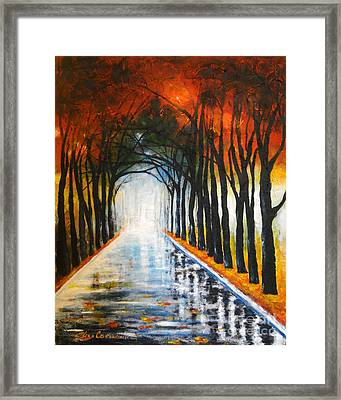 Autumn Morning Framed Print by Elena  Constantinescu