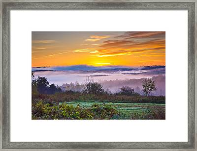 Autumn Morning In The Hills Framed Print