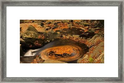 Autumn Motion Framed Print