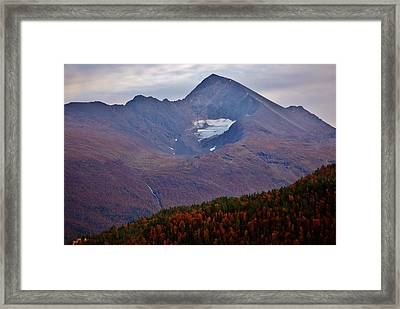 Autumn Mountain Glow Framed Print by David Broome
