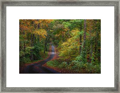 Autumn Mountain Road Framed Print by William Schmid