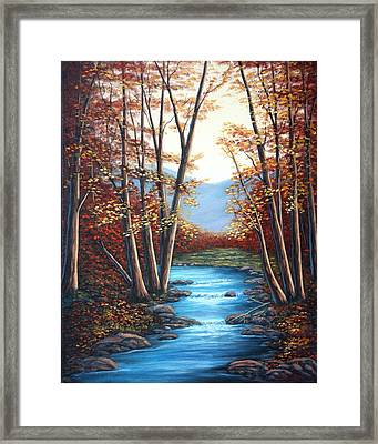 Autumn Mountain Stream  Framed Print