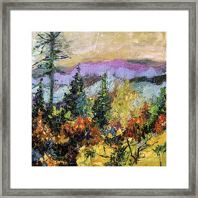 Autumn Mountain View North Georgia Framed Print