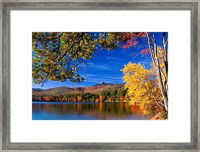 Autumn Mt Chocorua Nh Framed Print by Michael Hubley