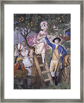 Autumn, Negro Servant, C.1780 Framed Print