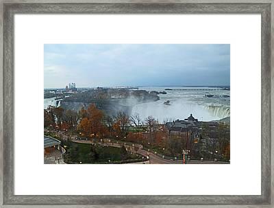 Autumn Niagara Falls Framed Print by Barbara McDevitt