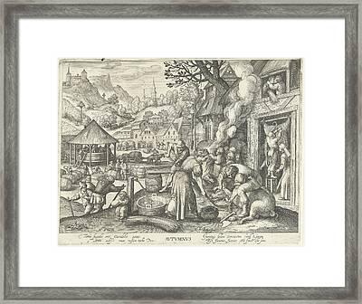 Autumn, Nicolaes De Bruyn, Assuerus Van Londerseel Framed Print by Nicolaes De Bruyn And Assuerus Van Londerseel