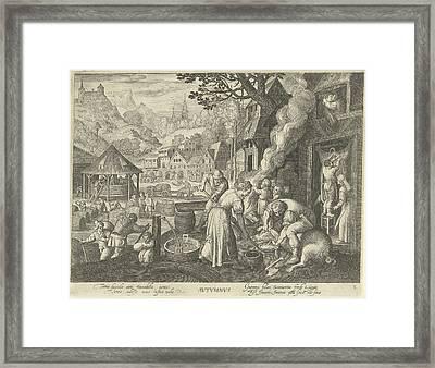 Autumn, Nicolaes De Bruyn, Marten De Vos Framed Print by Nicolaes De Bruyn And Marten De Vos
