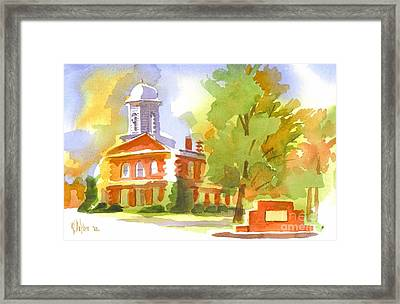 Autumn Observations Watercolor Framed Print by Kip DeVore