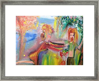 Autumn Offering Of Fruits Framed Print by Judith Desrosiers